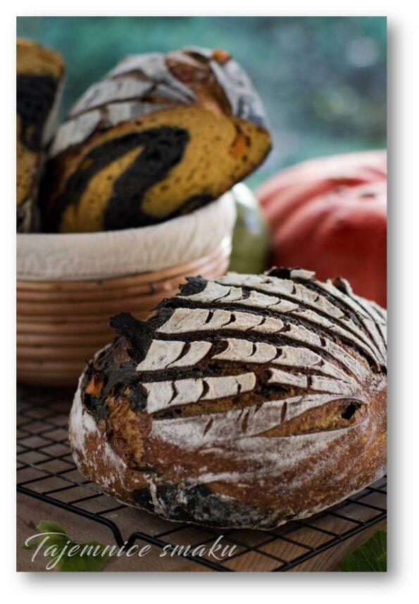 Chleb na zakwasie z dynią i sepią