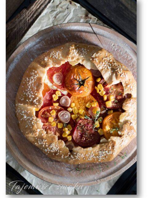tarta galette z pomidorami