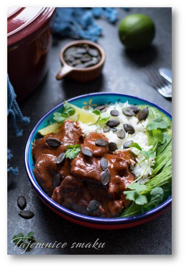 indyk w sosie mole kuchnia meksykańska