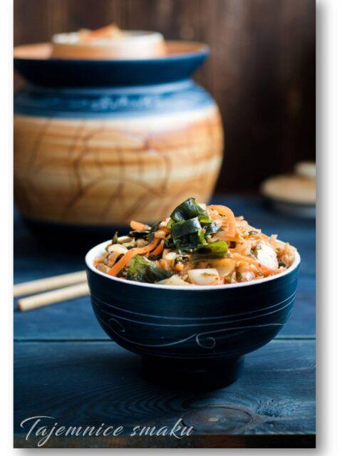 wgańskie kimchi z wakame