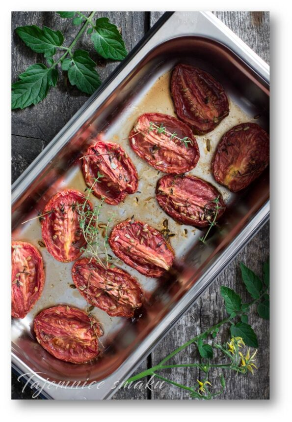 jarzynova pieczone konfitowane pomidorki pomidory