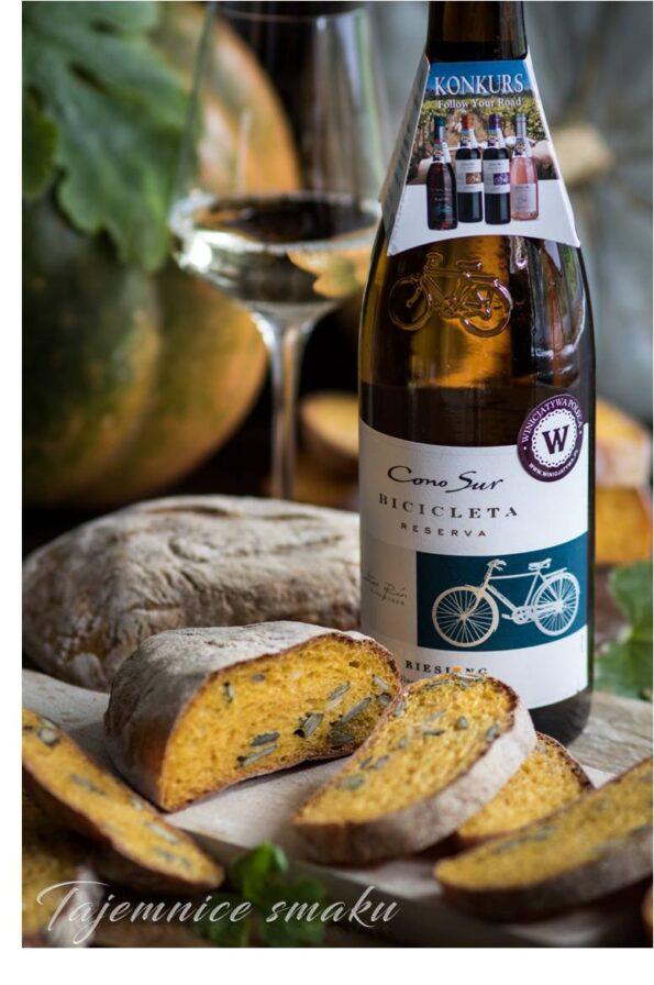 ciabatta dyniowa pieczywo drożdżowe konkurs z winem cono sur